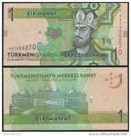 Turkmenistan P 22 - 1 Manat 2009 - UNC - Turkmenistan