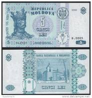Moldova P 9 E - 5 Lei 2006 - UNC - Moldavia