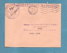 CACHET GENDARMERIE NATIONALE BRIGADE DE BOLBEC (76) FRANCHISE POSTALE SUR LETTRE 1975 - Marcophilie (Lettres)