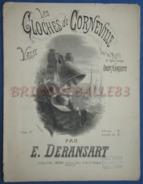 CAF CONC PIANO GF PARTITION XIX LES CLOCHES DE CORNEVILLE VALSE PLANQUETTE ÉDOUARD DERANSART 1877 ILL EDWARD ANCOURT - Musique & Instruments
