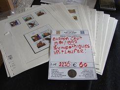 ~~  EUROPA CEPT 1980/1992 - COLLECTION CEPT/SYMPATHIQUES PRESQUE COMPLET (o) SUR PAGES [2236] ~~ - Stamps