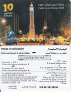TUNISIA - Tunisie Telecom Recharge Card 10 Dinars, Used - Tunisia