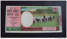 Lotterie / Lottery Of South Vietnam Viet Nam : Farmer / Open On 10 Nov 1970 /2 Images - Lottery Tickets