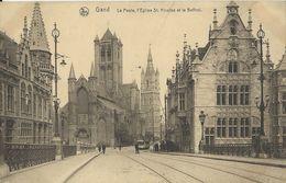 Gand   -  La Poste,  L'Eglise St. Michel Et Le Beffroi - Gent