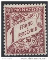 MONACO 1924 / 1932  N° 23  -  Timbres Taxe NEUF*  G40 - Segnatasse