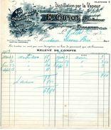 Distillerie D'alcools, Liqueurs, Eaux De Vie, Maison GUYOTdistillateur, 25 Rue D'Angoulême, ESSONNES, 1913 - Autres Collections