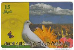 PALESTINE(chip) - Peace Dove, 05/00, Used - Palestine