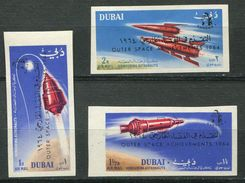 Dubai ** Ref. Michel N° 153B à 155B -  ND  - Cosmos - Dubai