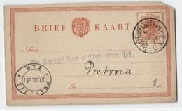 Ganzsache 1 Penny Nach Pretoria 1896 (481078) - Sud Africa (...-1961)
