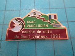 Pin115d Pin´s Pins / Beau Et Rare / AUTOMOBILES : RALLYE COURSE DE COTE DU MONT VENTOUX 1991 ASAC VAUCLUSE - Rallye