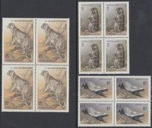 USSR Russia 1987 Block Of Wild Animals Fauna Menzbira Marmot Barger Snow Leopard Mammals Big Cats Stamps MNH Mi 5711-13 - Stamps