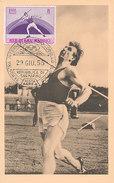 D31103 CARTE MAXIMUM CARD 1955 SAN MARINO - JAVELIN ATHLETICS CP ORIGINAL - Athletics