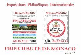 Monaco 2002 Mi. Block 85 Sheetlet MNH, MonacoPhil, Stamps Fair - Blocks & Kleinbögen