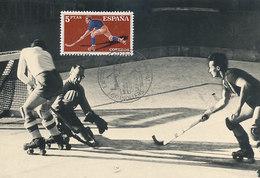 D31104 CARTE MAXIMUM CARD 1961 SPAIN - ROLLER HOCKEY CP PHOTOCARD - Hockey (Field)