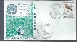 """FRANCE: Expo Philatélique ROSNY Sous BOIs 27-28/10/84"""" Circaète Jean Le Blanc """" - Collezioni & Lotti"""