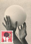 D31107 CARTE MAXIMUM CARD 1963 POLAND - BASKETBALL CP ORIGINAL - Basketball