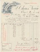 Algérie - Oran - Théus Neveu - Vin Naturel - Alcool - Vignoble De Dar Beida - 1907 - Factures & Documents Commerciaux