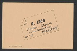 Buvard - LIBRAIRIE R.LECA ROANNE - Blotters