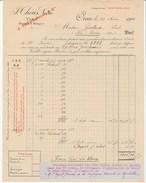 Algérie - Oran - Théus Neveu - Vins Blancs Et Vins Rouges - 1910 - Factures & Documents Commerciaux