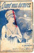 PARTITION MUSICALE- QUAND VOUS DORMIREZ- E.DUMONT-BENECH-PARIS - Partitions Musicales Anciennes