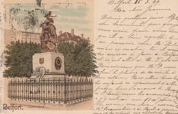 BELFORT QUAND MEME LITHOGRAPHIE  VOYAGEE EN 1899 - Belfort - Ville