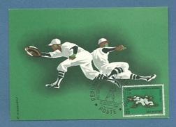 BASEBALL   VIII CAMPIONATO EUROPEO DI BASEBALL MILANO 1964 CARTOLINA FIRMATA MANCIOLI ED ANNULLO SPECIALE S.MARINO - Baseball