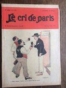 Le Cri De Paris Comite Socialiste  Narbonne Vignerons Pub Flammarion N R F  Avril 1929 - Journaux - Quotidiens