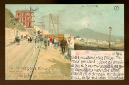 NAPOLI. Corso Vittorio Emanuele. Illustrator 1901. 2 Scans. - Napoli (Naples)