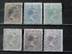 CUBA -1890 N° 73/78 (voir Détail Et Scan) - Cuba (1874-1898)