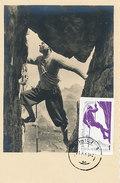 D31117 CARTE MAXIMUM CARD 1961 ROMANIA - MOUNTAIN CLIMBING - IMPERFORATED STAMP CP ORIGINAL - Climbing