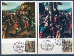 ITALIA 1995 --  ANNULLO NATALE A VIA GIULIA   --  Cartolina MAXIMUM -- - Cartes-Maximum (CM)