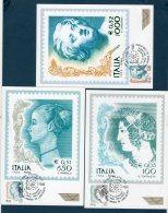 ITALIA 1999 --   DONNE NELL'ARTE Val. 0.34/0.05/0.52   --  Cartolina MAXIMUM -- - Cartes-Maximum (CM)