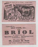 Buvard Lyon Cinéma Pathé Palace Eldorado Quo Vadis Technicolor MGM Briol - Cinéma & Theatre