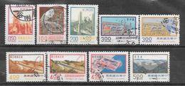 Taiwan LOT DE 9 TIMBRES OBLITERES - 1945-... República De China
