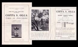 Brochure Con Programma Circolo Caccia E Tiro - Palermo COPPA S.OLGA Tiro Al Piccione. 19 Giugno 1949 - Programmi