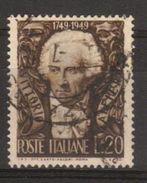 1949 - Bicentenario Nascita Vittorio Alfieri - Sassone N.605 - 6. 1946-.. Repubblica