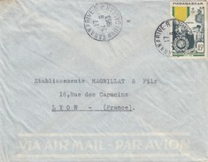 MADAGASCAR - Yv N°321 SEUL SUR LETTRE - TANANARIVE 24.6.1953 POUR LYON RHÔNE / 3 - Madagascar (1889-1960)