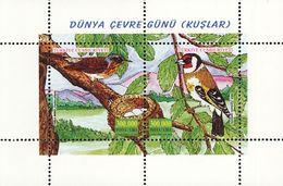 MDB-BK4-324  MINT ¤ TURKIJE 2001 BLOCK ¤  OISEAUX - BIRDS - PAJAROS - VOGELS - VÖGEL - - Songbirds & Tree Dwellers