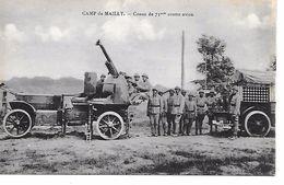 """MILITARIA 14/18 TRES BELLE CPA 10 CAMP DE MAILLY """"CANON DE D.C.A 75 MM"""" SUP - Guerre 1914-18"""