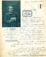 OPERA: SYLVES F., Baryton, Chanteur D'opéra, Opéra-comique, Comédien, 24 Rue De Strasbourg, Vincennes (94), 1912 - Autógrafos
