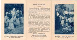 Kalender Calendrier 1938 - Oeuvre Pontificale De La Sainte Enfance Paris - Calendriers