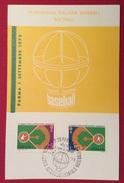 BASEBALL  PARMA PRIMA COPPA  INTERCONTINENTALE  BASEBALL  CARTOLINA ED ANNULLO SPECIALE DEL 1 SETTEMBRE 1973 - Baseball
