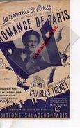 PARTITION MUSICALE- ROMANCE DE PARIS-CHARLES TRENET-SALABERT PARIS COLUMBIA PATHE CINEMA - Partitions Musicales Anciennes
