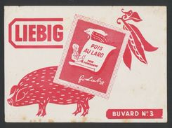 Buvard  -  LIEBIG - POIS AU LARD - Potages & Sauces