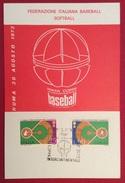 BASEBALL  ROMA 30 AGOSTO 1973 COPPA  INTERCONTINENTALE  BASEBALL  CARTOLINA ED ANNULLO SPECIALE - Baseball