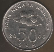 Malaysia 50 SEN 2008 KM# 53 - Malaysie