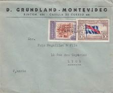 URUGUAY - COVER - D. GRUNDLAND MONTEVIDEO TO LYON FRANCE / 4 - Uruguay