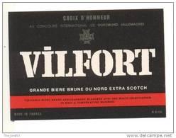 étiquettes De  Bière  Vilfort      Sans Contenance - Bière