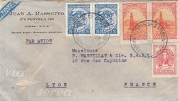 ARGENTINA - 3 COVERS - JUAN A. RASSETTO BUENOS AIRES TO LYON FRANCE / 4 - Storia Postale