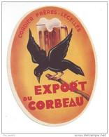 Etiquette De Bière  Export  -  Du Corbeau  -  Cordier Frères  à  Lecelles  (59) - Beer
